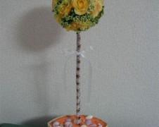 黄色いお花のトピアリー